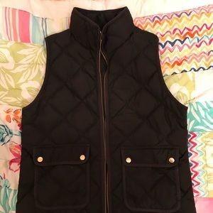 JCrew Black Medium Puffer Vest